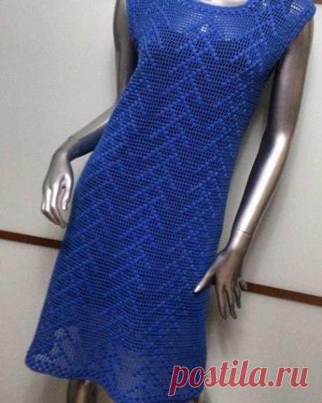 Нежное филейное платье, схема для любителей филейного вязания из категории Интересные идеи – Вязаные идеи, идеи для вязания