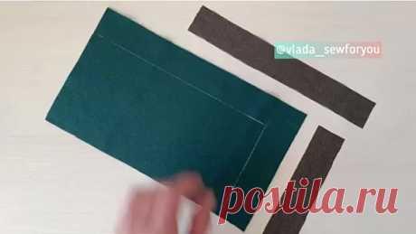 Обработка угла изделия с подкладкой.