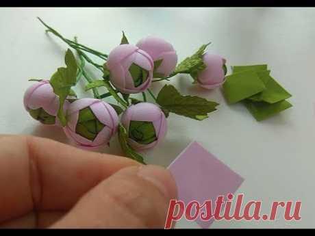 Маленькие цветочки из фоамирана для веночков и ободочков/Small flowers of foamiran