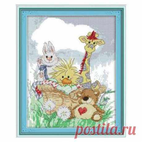 Giraffe and his friends, animal, cross stitch kit, cross stitch, modern cross stitch, handmade, needlework,  cross stitch pattern, diy, kit Giraffe and his friends, animal, cross stitch kit, cross stitch, modern cross stitch, handmade, needlework, cross stitch pattern, diy, kit  ☻ More cross stitch kits : https://www.etsy.com/shop/OscolShop?ref=seller-platform-mcnav§ion_id=24630773  ► Include: Canvas Cotton (without printing)