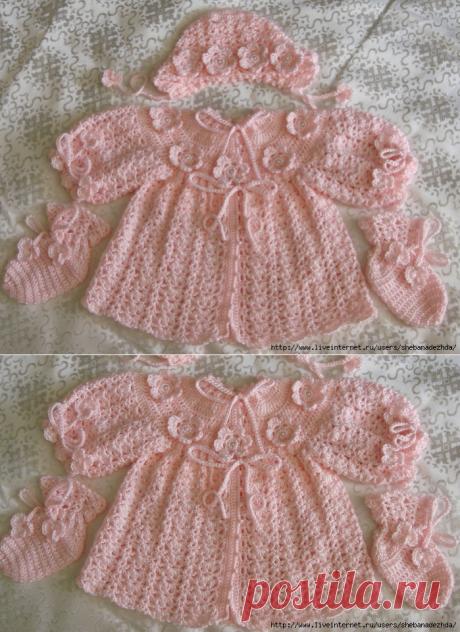 Нежно розовый комплект для малышки 03-09 М.