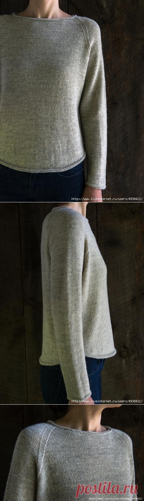 Lightweight Raglan Pullover by Purl Soho.