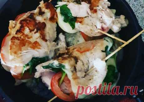 (7) Куриная грудка фаршированная шпинатом сыром и помидорами - пошаговый рецепт с фото. Автор рецепта Ольга Петрова . - Cookpad