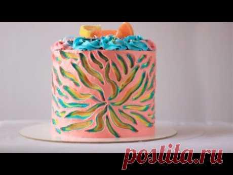 СЕКРЕТНОЕ УКРАШЕНИЕ ТОРТА из крема. Кремовое украшение торта. Идея украшения торта без мастики