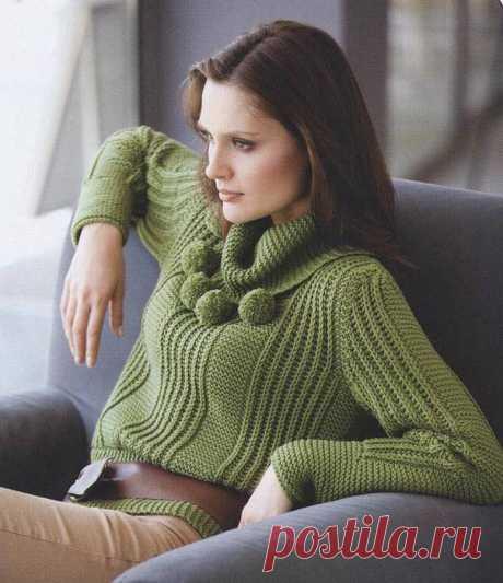 ВЯЗАНИЕ СПИЦАМИ- свитер