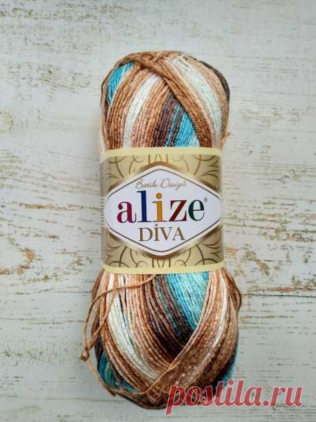 Пряжа Alize Diva Batik Design: мои впечатления | Рукотворное | Яндекс Дзен