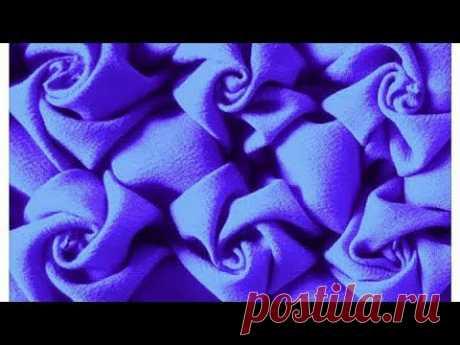 Cushion Cover Rose Smocking Design with English subtitles punto cojin mariposa capiton