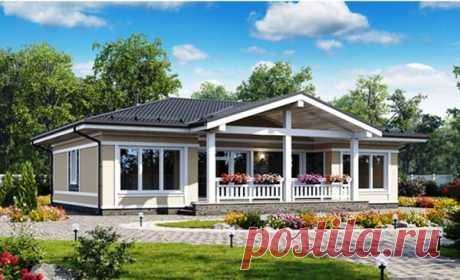 Комфортный одноэтажный дом 10х13 с 10-ю необходимыми помещениями + терраса   Дома из Коми   Яндекс Дзен