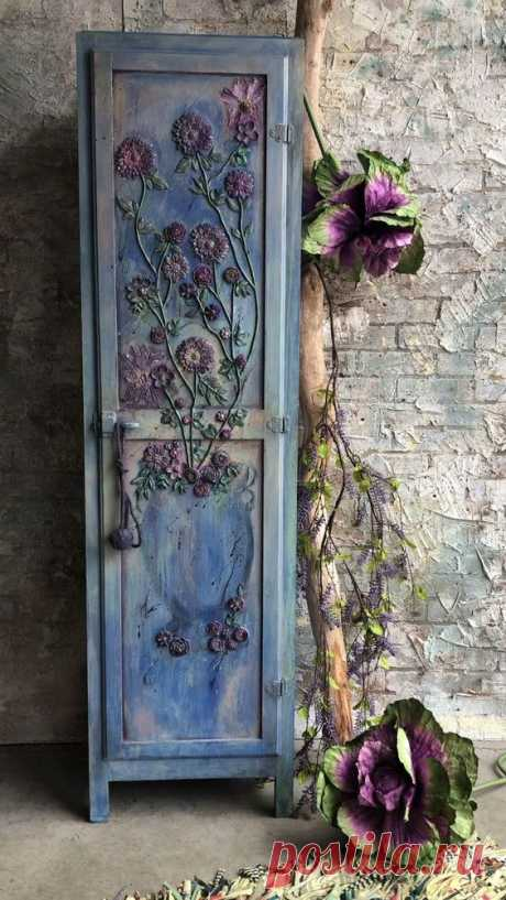 Apr 26, 2020 - One of a kind hand painted by Dare To Be Vintage cabinet #daretobevintage with a whimsical boho vibe.