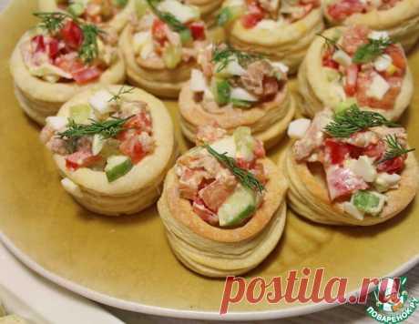 Волованы с салатом из тунца – кулинарный рецепт