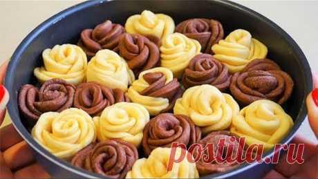 """Пирог сдобный для свекрови """"Дикая роза"""". Красиво, вкусно и приготовить очень легко!"""