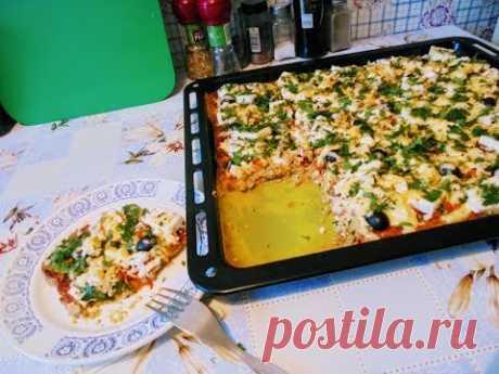 Постная и диетическая выпечка - Пицца из цветной капусты .