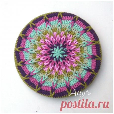 Atty в: Вязание Mandala Пот Coaster Учебное пособие