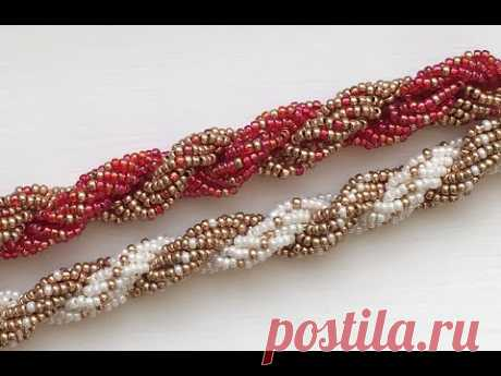 Double Spiral Beaded Rope - YouTube
