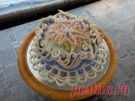 УКРАШЕНИЕ ТОРТОВ- Торт Морская волна, Cake decoration тортик украшен белковым заварным кремом , вот ссылочка на видео рецепт: https://youtu.be/3Q6209Pwtqc