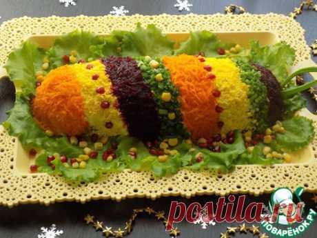 Салат ''Новогодняя хлопушка'' - кулинарный рецепт