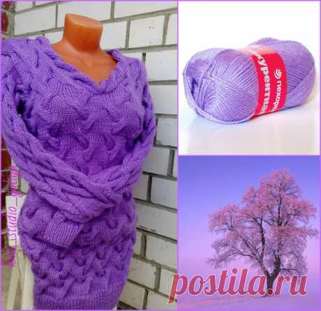 #knit_studio_yuliya #спицами #платьесвитер #одеждаручнойработы #fashiondesighn #одежда #moda #style #вяжутнетолькобабушки #люблювязать #хобби #knit #knitting #сиреневыйтуман #вязаниеназаказ #трикотаж #хендмейд #handmade
