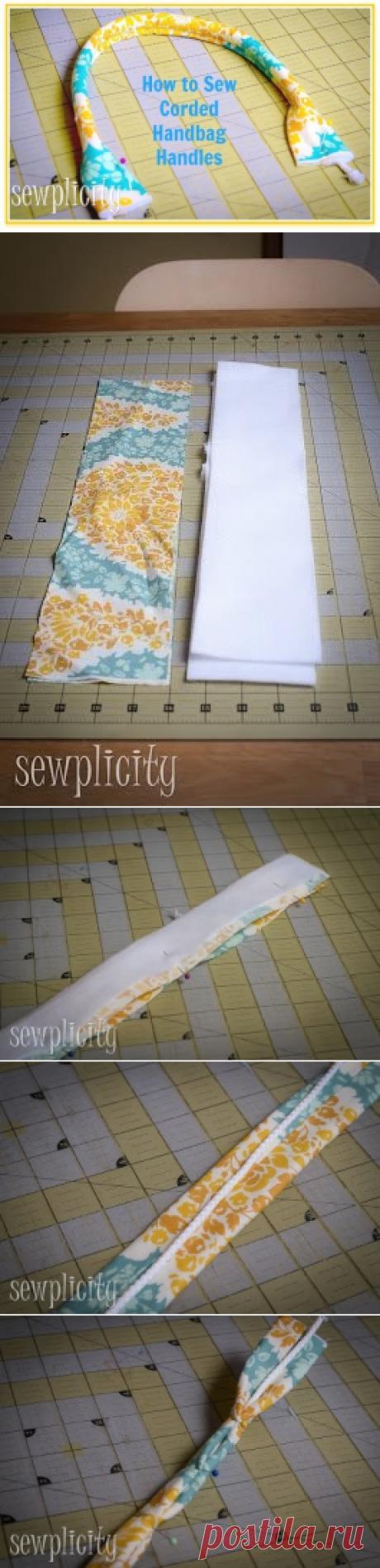 Изготовление ручек к лоскутным сумкам. мастер-класс. — Сделай сам, идеи для творчества - DIY Ideas