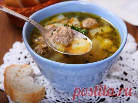 Суп с фрикадельками: рецепт приготовления🥣 | Еда от ШефМаркет | Яндекс Дзен