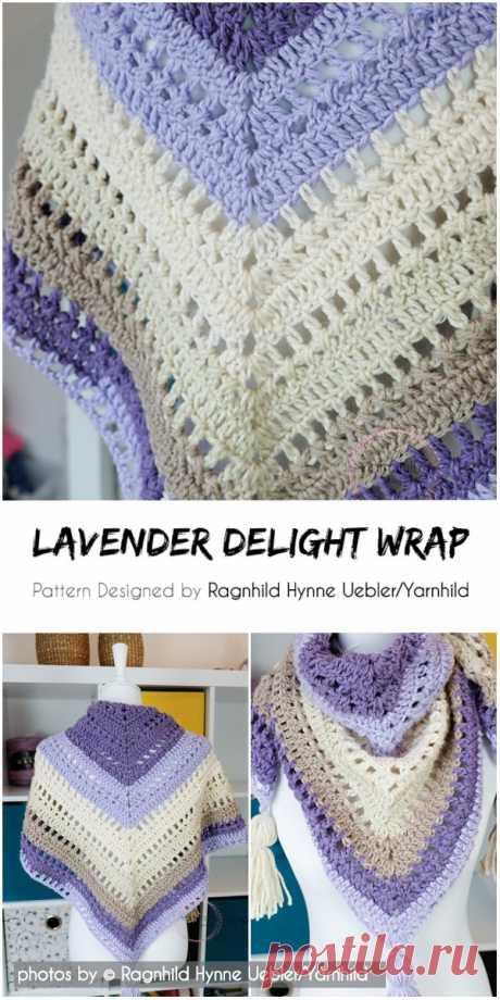Crochet Lavender Delight Wrap Pattern