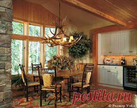 Деревенский стиль в деревянном доме   Красивые дома   Яндекс Дзен