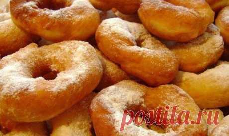 Воздушные пончики на кефире всего за 15 Минут! Ну очень вкусно!