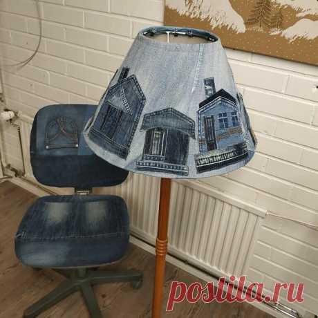 Старые джинсы-новые вещи: часть 1. Преображаем интерьер   Златоручка   Яндекс Дзен