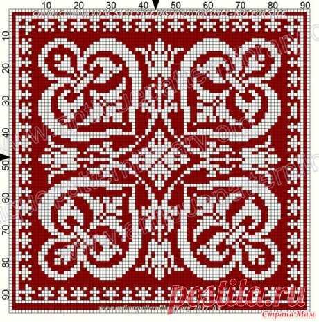 Подборка схем для филейного вязания - Вязание - Страна Мам