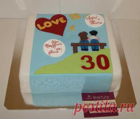 Юбилейный торт на 30-летие супругов.Вес 4 кг.