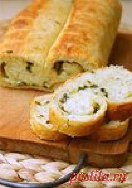 Картофельный хлеб с зеленью
