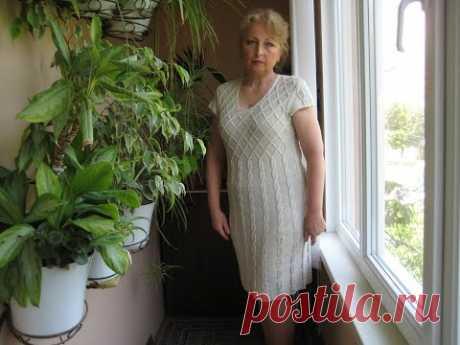 Очень!!!! практичное, эффектное летнее платье с легким узором, knitting for different women