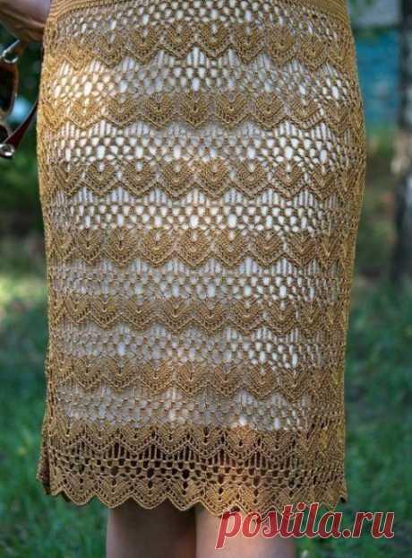 Интересный узор для юбочки