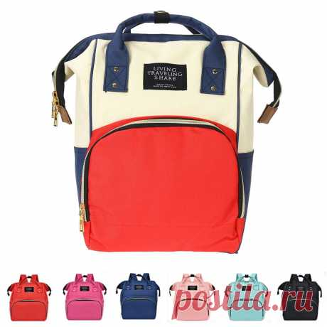 36l canvas mother baby bag multifunctional diaper bag shoulder bag backpack outdoor camping travel Sale - Banggood.com