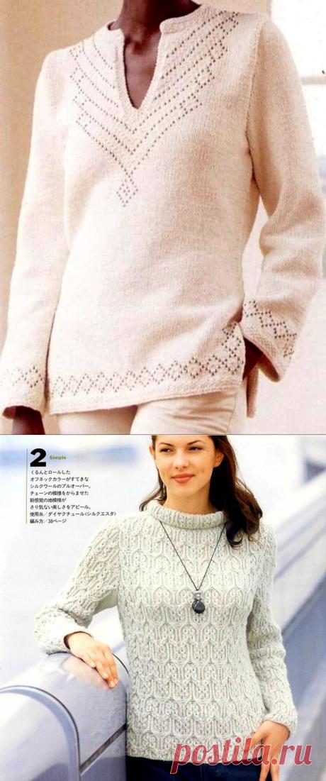 Креативные пуловеры для вязания спицами🌺. | Asha. Вязание и дизайн.🌶 | Яндекс Дзен