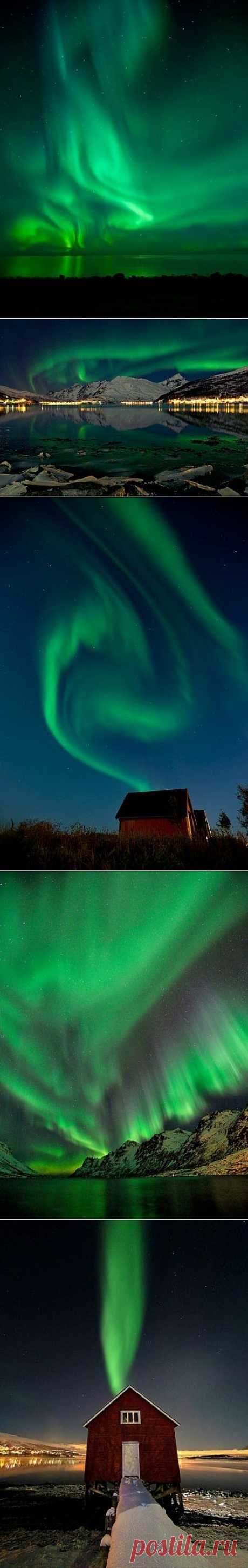 Северное сияние (Aurora Borealis) в Норвегии