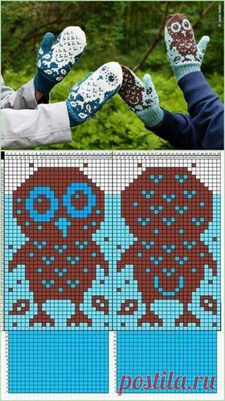 Схемки для варежек | Вязание для женщин спицами. Схемы вязания спицами   красивые и интересные