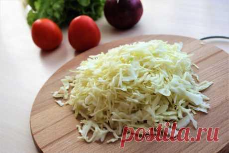 Два оригинальных салата из обычной капусты. И без майонеза | ОЛЯ ГОТОВИТ | Яндекс Дзен