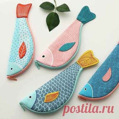 Сумка-рыбка - идеи и выкройка кошелька