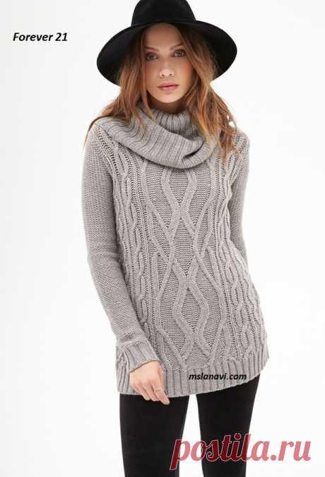 Пуловеры с забавными аранами из Forever 21 - Вяжем с Лана Ви Вязаные пуловеры спицами из Forever 21— молодежные модели из каталога интернет-магазина. Классические удлиненные пуловеры, с широким и высоким воротником, забавными переплетениями аранов по центру, что собственно и является главным украшением. Пуловеры связаны из 100% акрила, для лета можно заменить хлопком, для зимы — шерстяной пряжей. Приятного творчества! Вязаные пуловеры спицами из Forever 21 На пуловер […]