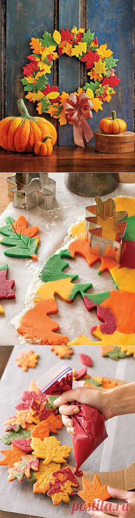 """Добро to welcome cookies and a wreath, Осень!"" | MAKE!"