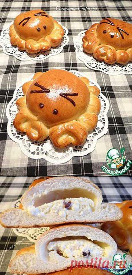 """Пирожки """"Крабики"""" с начинкой из творога и сушеной клюквы - кулинарный рецепт"""