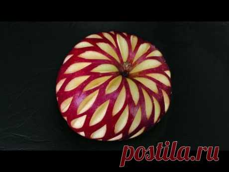 Christmas Apple Design - Beginners Lesson 19 By Mutita The Art Of Fruit And Vegetable Carving