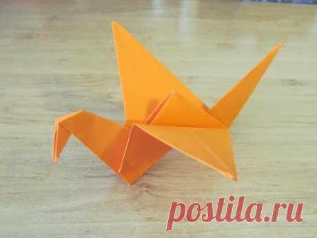 Как сделать ПТИЦУ ИЗ БУМАГИ Бумажная птица ОРИГАМИ How to make PAPER BIRD ORIGAMI