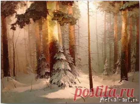 Лес стоит, как живой... сказочной красоты пейзажи Виктора Быкова .