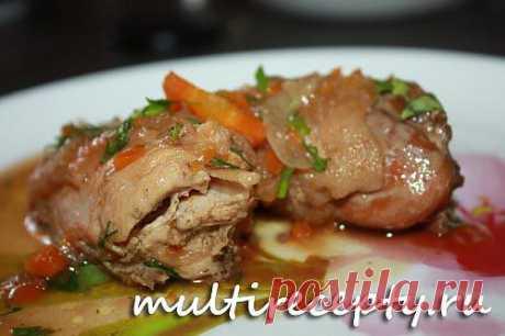 Домашняя курица в мультиварке | Рецепты для мультиварки
