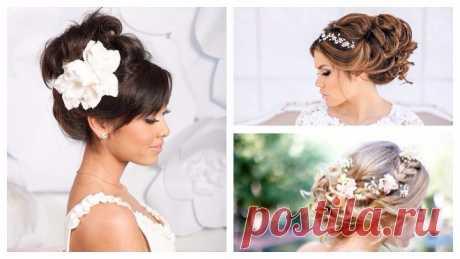 Роскошные и практичные свадебные прически на средние волосы: аксессуары