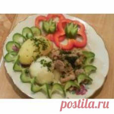 Свинина с яблоками и коньяком Кулинарный рецепт