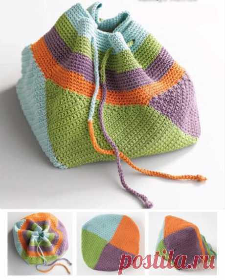 Сумка торба вязаная крючком от дизайнера Kathryn Merrick