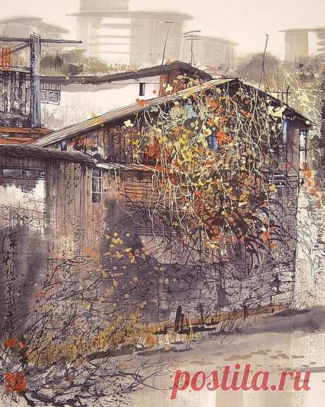 Творчество китайского современного художника Liu Maoshan