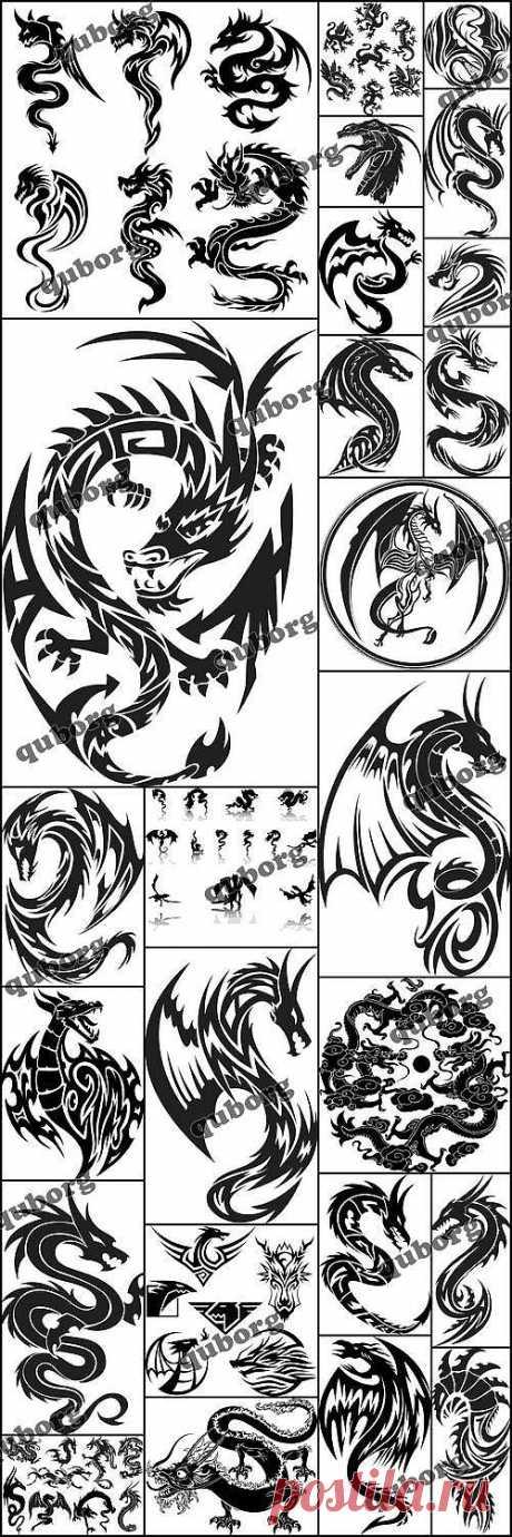 Stock Vector - Dragon Tattoo » RandL.ru - Все о графике, photoshop и дизайне. Скачать бесплатно photoshop, фото, картинки, обои, рисунки, иконки, клипарты, шаблоны.